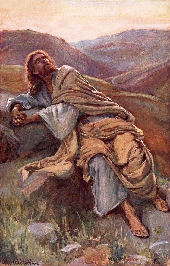 Jesus Went From The Glory Of His Baptism Into Fire Testing In Wilderness He Battled Satan And Human Weakness 40 Days Came Out Victorious